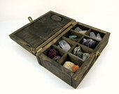 Made to Order: Stained Pallet Wood Jewelry Box with Compartments - Rustic Wooden Box with Dividers - Unique Craft Storage - Collector's Box