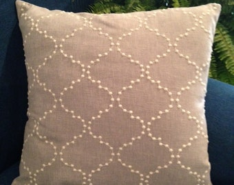 Grey Home Decorator Fabric Pillow Cover