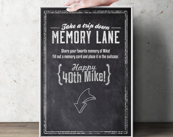 Cheers and Beers, memory card sign, beer, 21st, 30th, 40th, 50th, 60th, 70th, Surprise Birthday Party,retirement party, poster, retirement