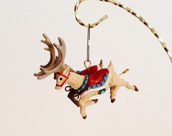 15% OFF SALE ~ Dasher and Dancer Hallmark Christmas Ornament (First of Five) from the Santa and His Reindeer Collection - Christmas Gift