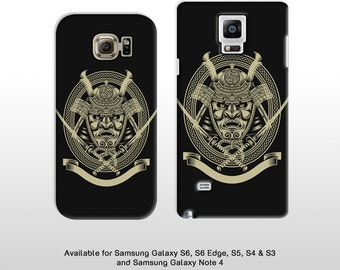 Samsung Galaxy S6 S7 Note 5 Samurai warrior phone case. Japanese inspired shogun hard case for Samsung Galaxy S6 S5 Note 4 T286