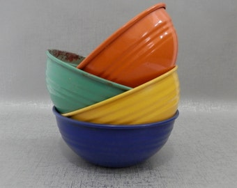 Enamel Primary Color Bowls set of 4