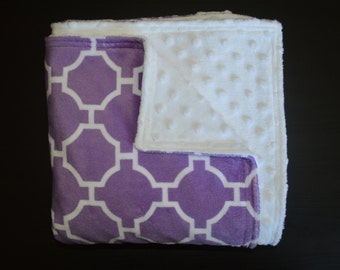 Sale!! Minky Baby Blanket Set Baby Girl Blanket Large Baby Blanket Large Minky Blanket Purple Minky Toddler Blanket Baby Shower Gift