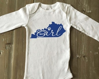 Kentucky Girl Bodysuit / Kentucky Baby Bodysuit / Baby Shower Gift / Photo Prop / KY Girl