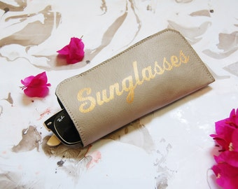 Sunglasses case, leather sunglasses case, sunglasses holder, glasses cases, eye wear cases
