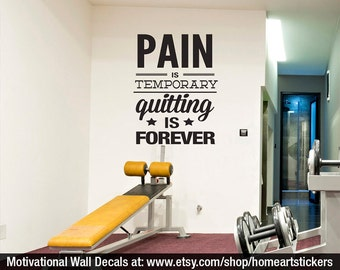 Crossfit Decal - Gym Wall Decal - Fitness Stickers - Motivational Quote -  Workout Stickers - Gym Stickers - Exercise Stickers - SKU:PTQF