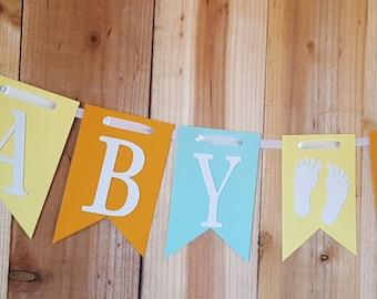 Baby Boy Banner, Baby Shower Banner, Boy Banner