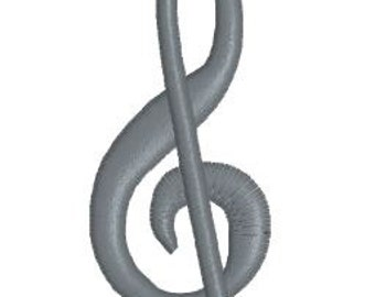 Treble Clef Embroidery Design Pattern Files for Instant Download