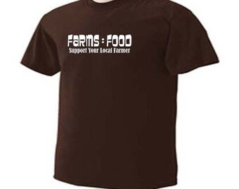 Farms Food Support Your Local Farmers Farming Farm Occupation T-Shirt