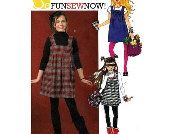 Girls Jumper Sewing Pattern Size 7, 8, 10, 12, 14 Uncut Easy to Sew McCall's M5698