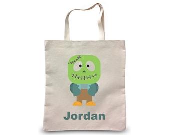 Trick or Treat Bag | Halloween Bag | Personalized Halloween Trick or Treat Bag | Halloween Gift | Halloween Present | Halloween Frankenstein