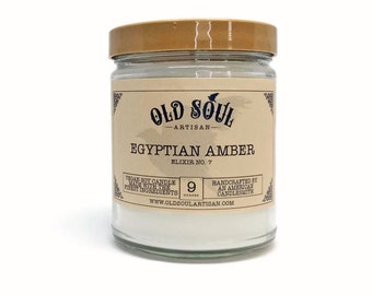 Egyptian Amber Soy Candle, Vegan Candle, Hand Poured Soy Candle, Scented Candle