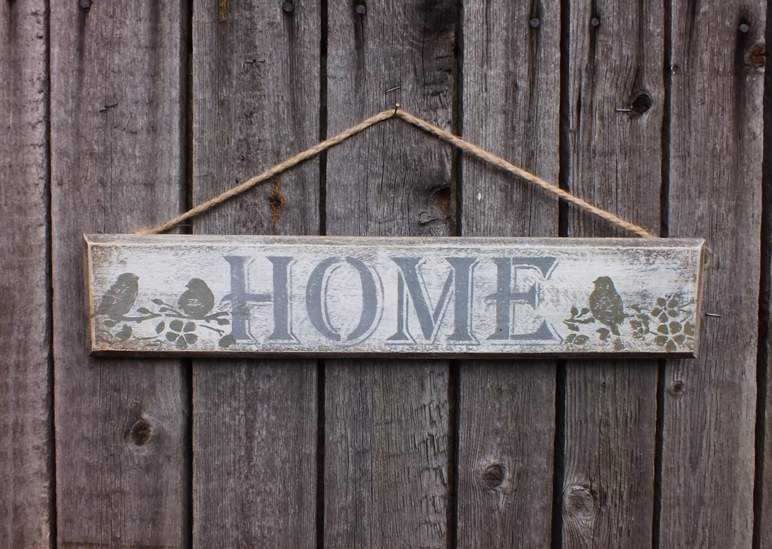Wood sign home decor rustic wall country