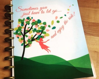 Front and Back Cover Set *Windy Tree - Let Go and Enjoy the Ride* for use with Erin Condren or Happy Planner