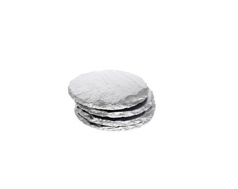 Silver Slate Coasters (4pc Gift Set)