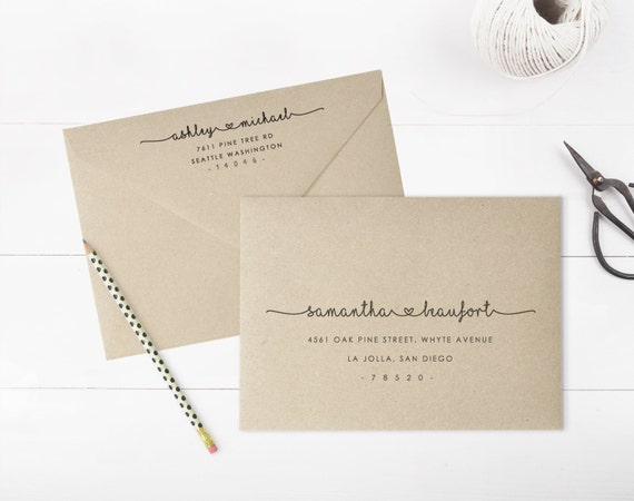 Printing Wedding Invitation Envelopes At Home: Printable Envelope Address Template Wedding Envelope Address