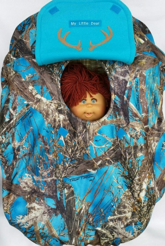 Car Seat Cover True Timber Blue Camo Baby Teal Turquoise Cozy