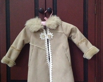 Girls faux fur winter coat