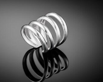 Silver Ear Cuff. boho earring. sterling silver ear cuff. ear cuffs earring. earcuff. bohemian jewelry. ear cuffs no piercing.silver ear wrap