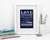 Framed love bible verse - 1 Corinthians 13:4-8