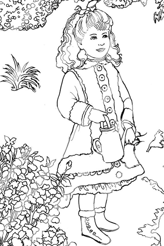 Items similar to Renoir Coloring Page for Adults Digital Procreate and Recolor Friendly, Grand ...