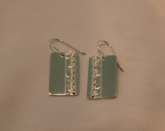 sterling silver disks, earrings,soldered,high poilish