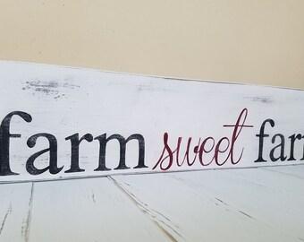 farm sweet farm, farmhouse decor, farm sign, farm wall decor, farm wood sign, home sweet home, farmhouse sign, farmhouse style, farm decor