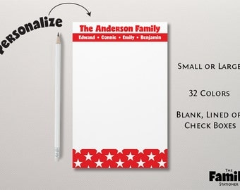 Personalized Notepad, Family Notepad, Personalized Note Pad, To Do List Notepad, Custom Notepad, Personalized Stationery, TFS/NP001