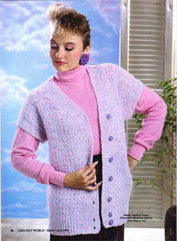Crochet Jacket Patterns For Beginners : Crochet Cardigan Easy Beginner Pattern, - Digital Download- Ladies ...