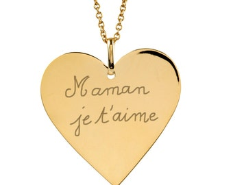 Custom women gold plated Heart Necklace
