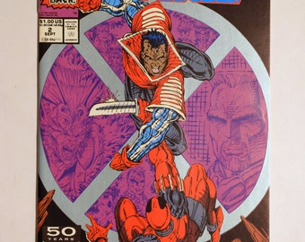 Deadpool 2nd Appearance,(NM+) X-Force #2 Marvel Comic Book,Comic,Vintage Marvel Comics,Unread Deadpool Comic,Vintage X-Force Comic Book