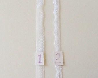 """3/8"""" White Flat Lace"""