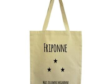 Tote bag friponne mode, fair cotton bag, Hindbag