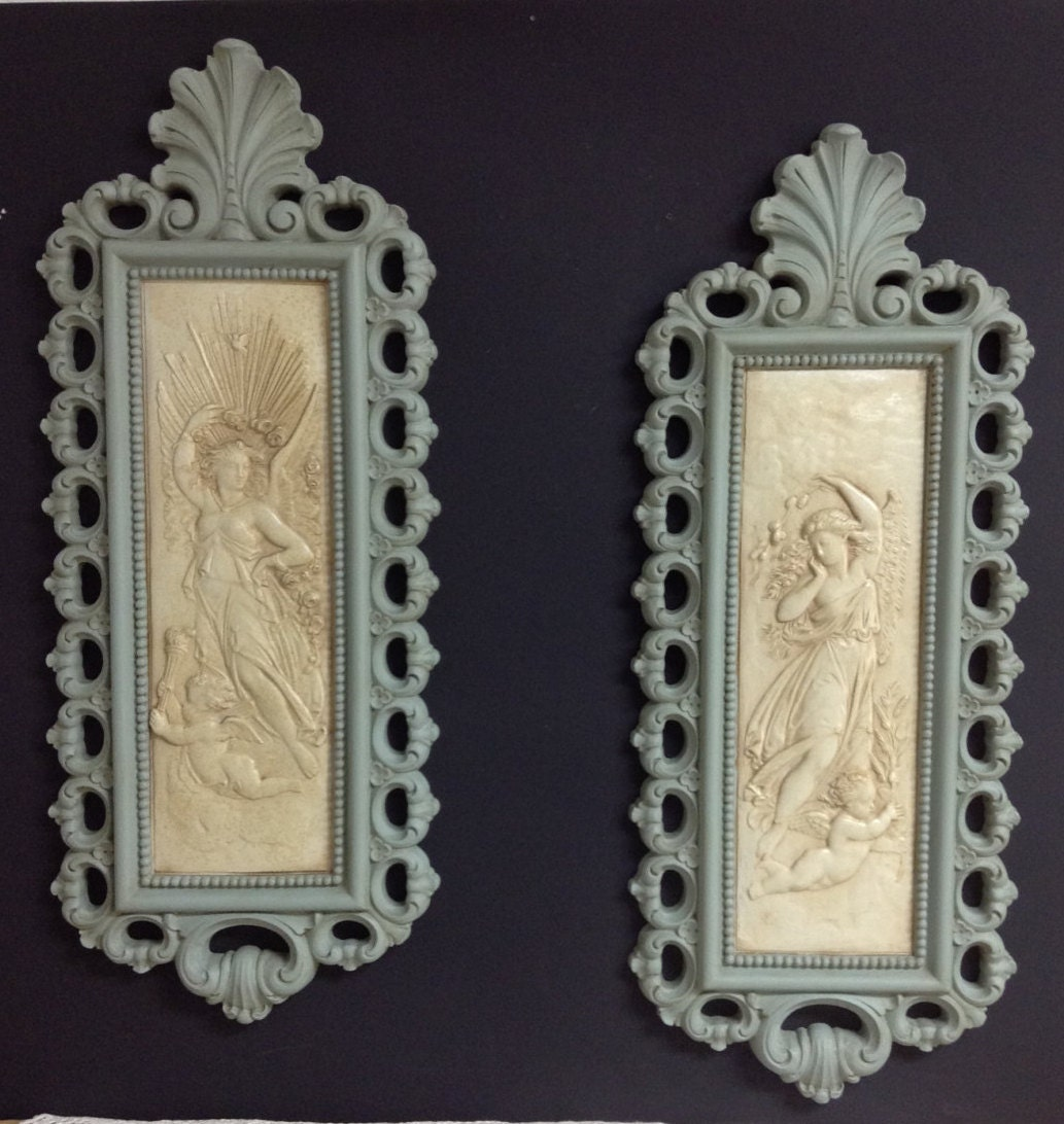 Angel Wall Art Cherub Wall Art Upcycled Homco Wall Plaques