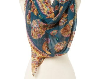 Wife gift girlfriend gift chunky scarf printed scarf cowl scarf winter scarf knit scarf winter scarves womens scarves fashion scarves