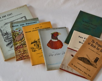 Vintage Bird Conservation Books, Collection From The 1940's To The 1960's