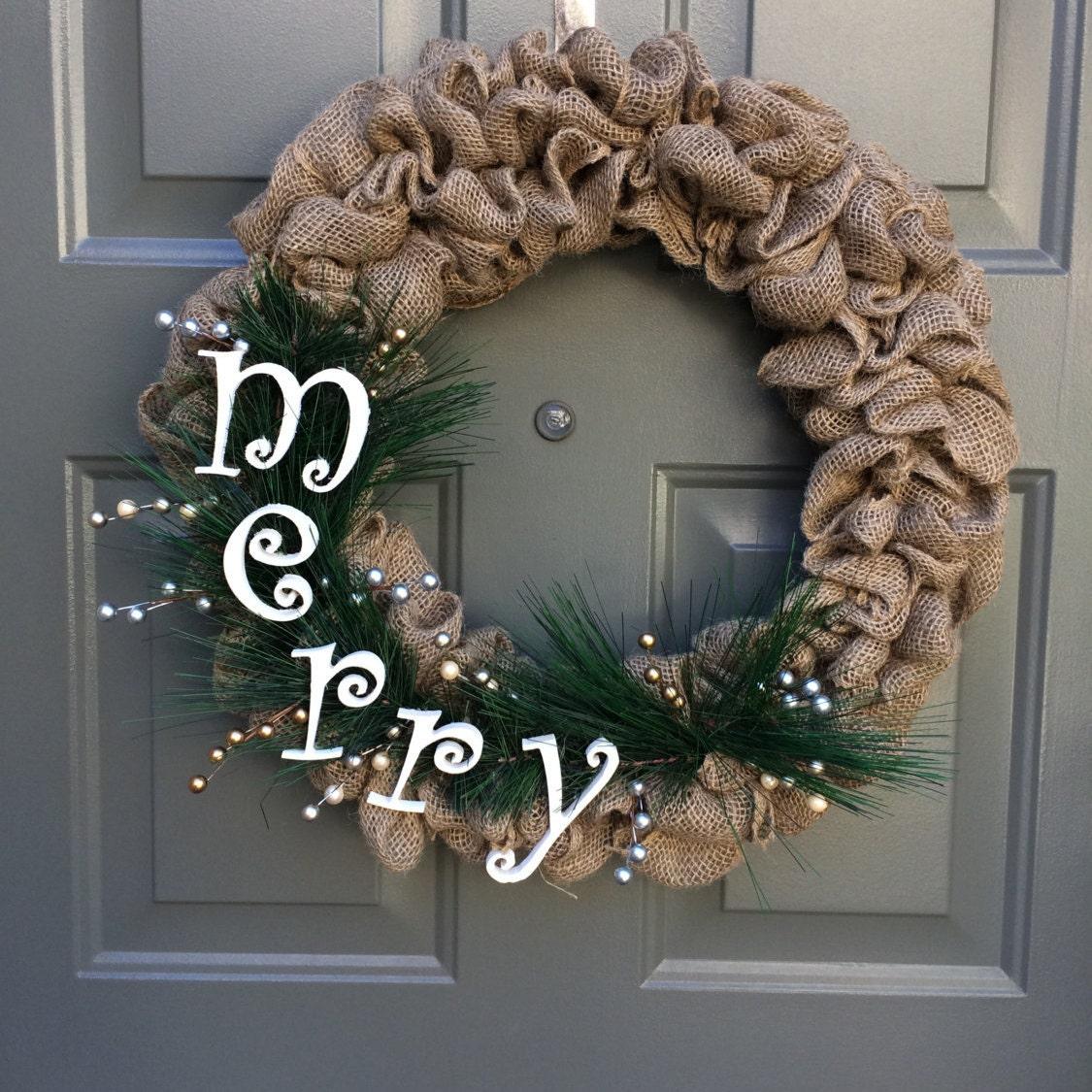 Christmas Wreath For Front Door Rustic Christmas Wreath