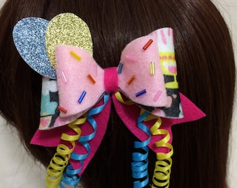 Pinkie Pie Felt Hair Bow, Kawaii Cosplay, Lolita, My Little Pony