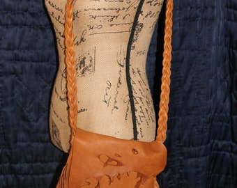 Deer skin leather/crossbody/Boho/Hippie bag