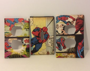 Spiderman Bedroom,Marvel Spider-Man Light Switch Cover - Spiderman Switchplate- Spiderman Nursery Decor