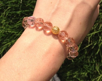 Rose & Gold Stretch Bracelet
