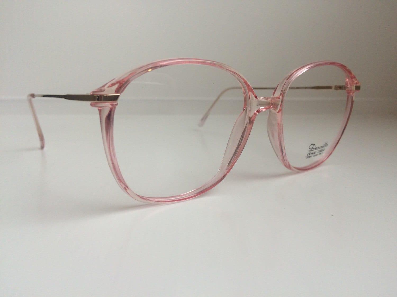 vintage pink eyeglass frames oversized eyeglasses light