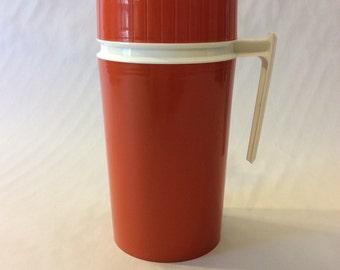 Burnt Orange Thermos Model 7202  King Seeley Vintage