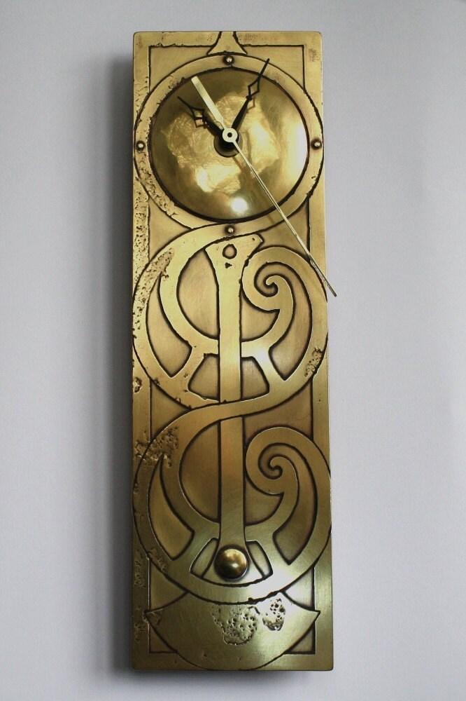 Wall Clock Art Nouveau : Art nouveau clock celtic irish handmade