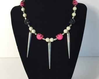 Skulls and Spikes Necklace