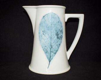 Portmeirion Leaf Design Jug - Dusk by Jo Gorman