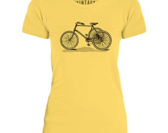Mintage Old Tricycle  Womens Fine Jersey T-Shirt