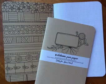 Medium-Size Hand-Drawn (graph) Journal