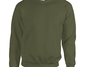Gildan Sweatshirt - Heavy Blend - Plain Blank Sweatshirt -All Colours and Sizes