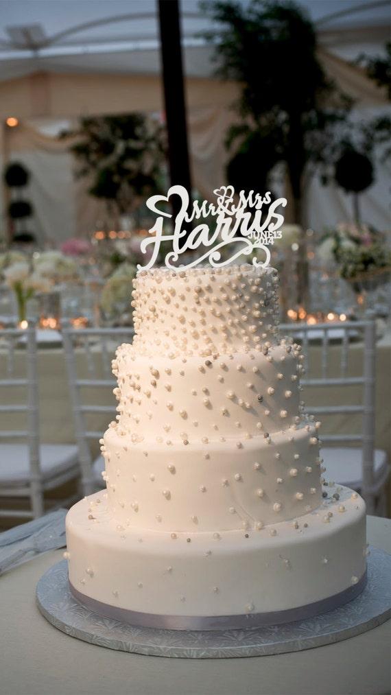 Etsy Wedding Cake Decorations : Cake Decorations Custom Wedding Cake Topper Personalized